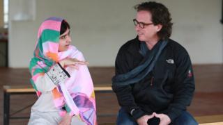 Malala Yousafzai and Davis Guggenheim