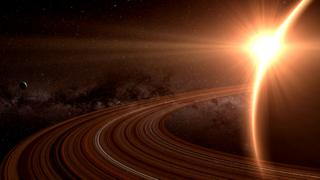 Artist impression of Saturn and its rings