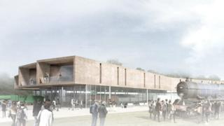 Artist's impression of the museum building