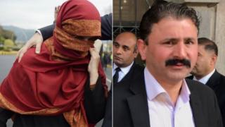 Maheen Zafar and her husband, Judge Rajak Hurramali, who were both accused of abusing Tayyaba