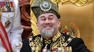 蘇丹莫哈末五世在吉隆坡主持國會開議(17/7/2018)