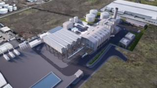 Belfast Power Limited's graphic mock up of what its power station will look like