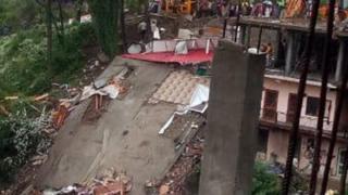 सोलन में गिरी इमारत