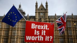 """A sign that reads """"Brexit. Is it worth it?"""""""