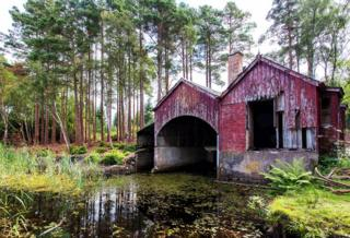 Derelict Boat house at Loch of Blairs near Forres. Jim Macdonald, Maryburgh, Dingwall.