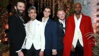 The cast of the new Queer Eye: Jonathan Van Ness, Tan France, Antoni Porowski, Bobby Berk and Karamo Brown