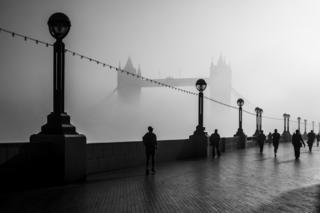 Morning Fog over Tower Bridge, London