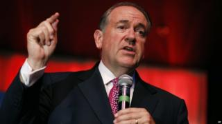 Mike Huckabee speaks at campaign event on 23 July 2015