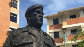Estatua de Chávez.