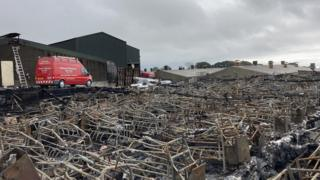Pig farm fire in County Down
