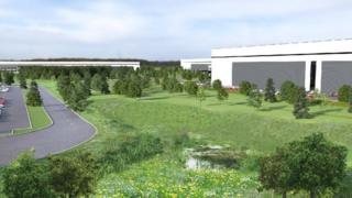 Design for a distribution hub in Warrington