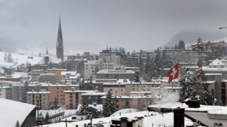 瑞士旅游胜地达沃斯