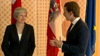 Theresa May and Sebastian Kurtz