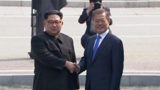 Kim Jong-un fi Moon Jae-in