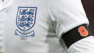 Poppy armband on England player in 2011