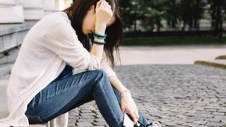 Distressed girl