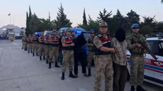 Suriye'de yakalanan YPG üyeleri