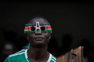 Un supporter de Gor Mahia, un club kenyan.