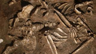 Репродукция останков неандертальцев