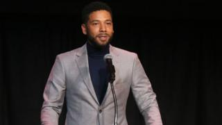 Jussie Smollet on stage