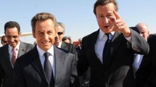 Nicolas Sarkozy ve David Cameron
