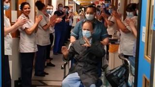 Hylton Murray-Philipson leaving hospital