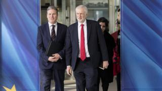 Shadow Brexit secretary Keir Starmer and Labour leader Jeremy Corbyn