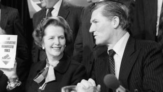 Cecil Parkinson with Margaret Thatcher
