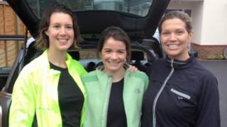 L-R: Emma Ramsey, Joanne Green and Nicky Green
