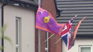 UVF flag flying in Cantrell Close