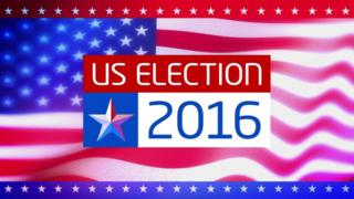US election 2016 graphic