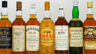 "Whisky from the island of Islay, including a 1970 bottle from the ""silent"" distillery of Port Ellen"