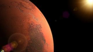 Mars'tan güneşin doğuşu