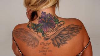 Hollie's back tattoo