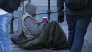Homeless man in Manchester
