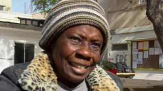 Inmigrante haitiana en Chile