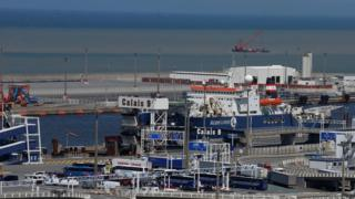 File image of the port of Calais
