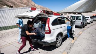 Paso fronterizo entre Argentina y Chile