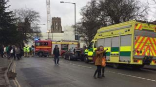 The scene at Bristol Uni