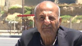 Old Palestinian male refugee