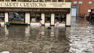 Carpet shop flooded