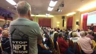 About 200 people attended a public meeting about the proposed prison in Baglan