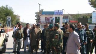 Kunduz governor Asadullah Amarkhil in the centre of Kunduz city, 4 October 2016