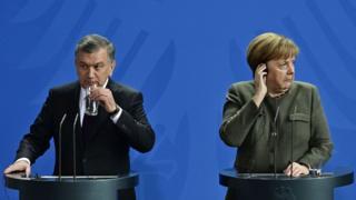 Мирзиёев ва Меркель
