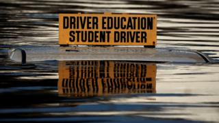Driver education student flooding