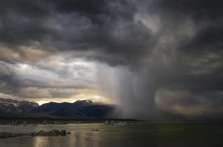 Paul Andrew: Evening Storm, Mono Lake