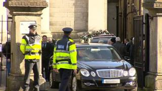 Gardai carry out major security operation during funeral of man murdered in Dublin