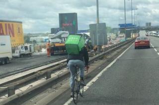 Cyclist on M5