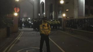 Police outside London Central Mosque