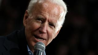 Joe Biden speaks in Iowa